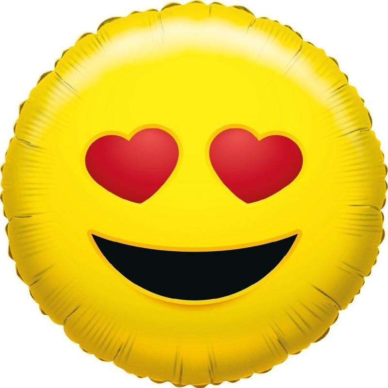 Folie ballon verliefde smiley 35 cm