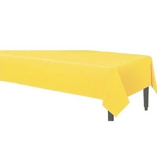 Geel tafelkleed 120 x 180 cm stof-textiel