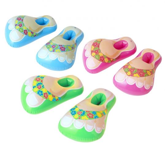 Gekleurde opblaas slippers