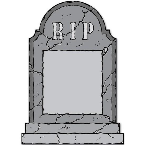 Grafsteen RIP krijtbord Halloween versiering-decoratie 53 cm
