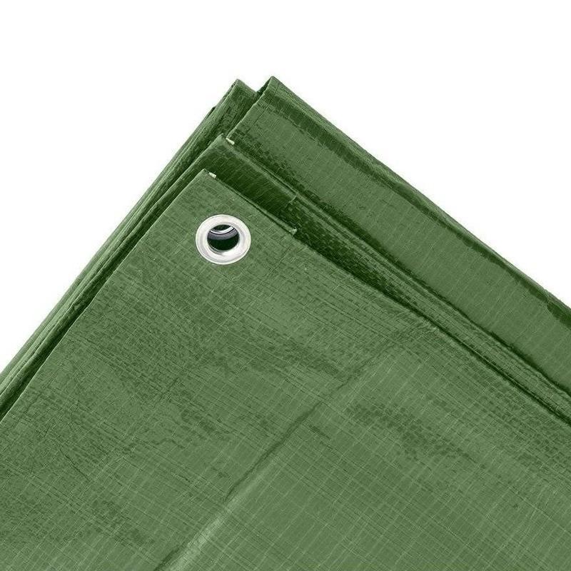 Groene grote dekzeilen 10 x 12m.