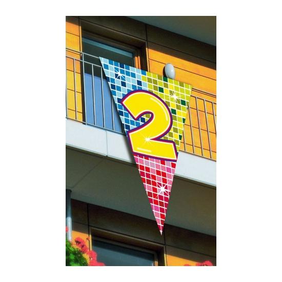 Grote vlag in puntvorm 2 jaar