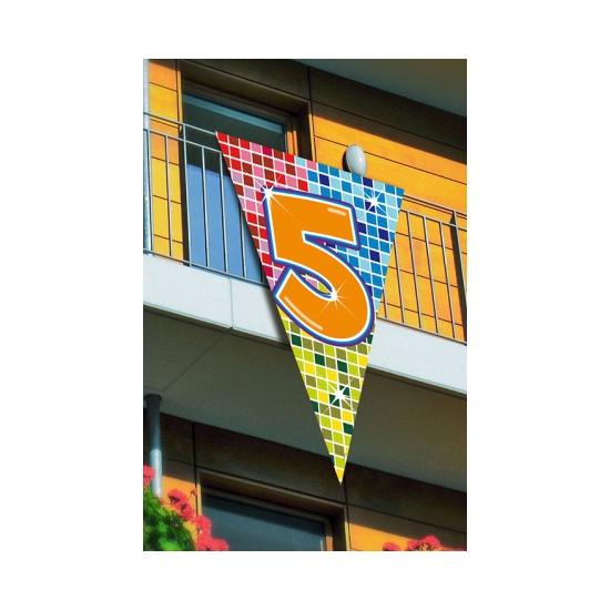 Grote vlag in puntvorm 5 jaar