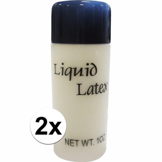Halloween 2x vloeibare liquid latex make up