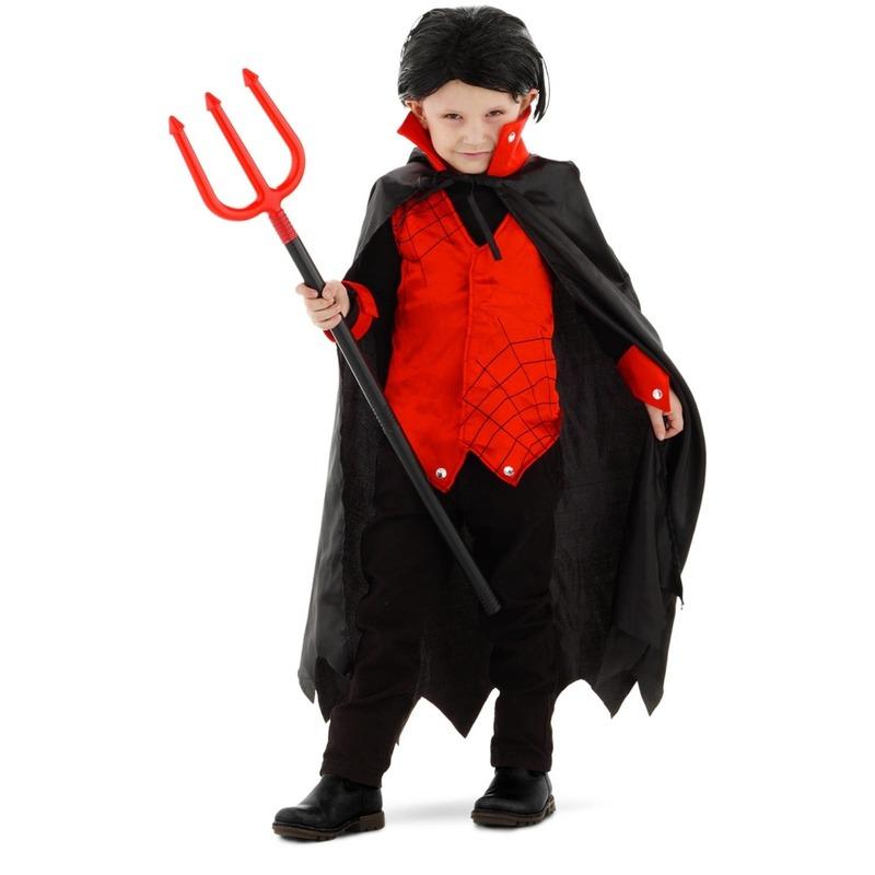 Halloween Dracula-vampier verkleed kostuum met cape voor kinderen