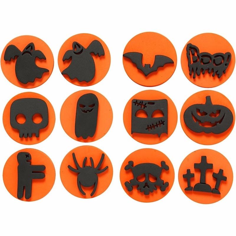 Halloween foam stempels 12 stuks