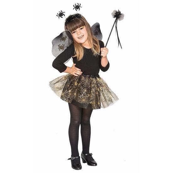 Halloween Halloween kostuum Heksenset zwarte spin voor meisjes