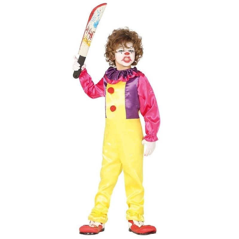 Halloween Horror clown Freak verkleed kostuum voor kinderen