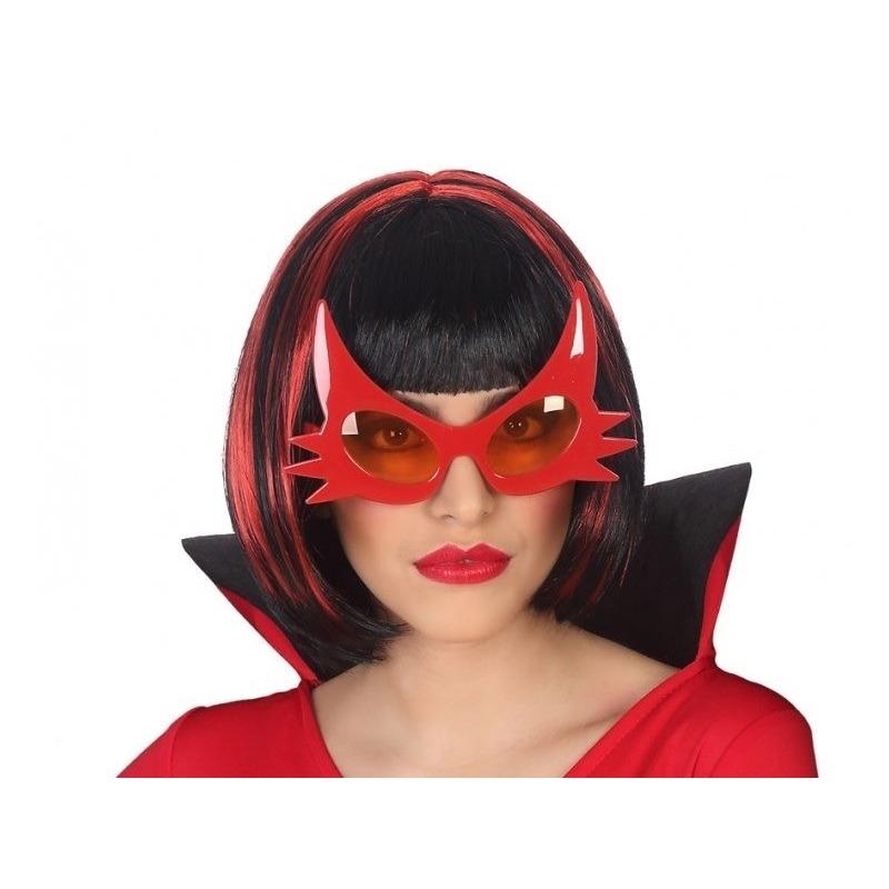 Halloween Horror duivel verkleed bril rood voor volwassenen