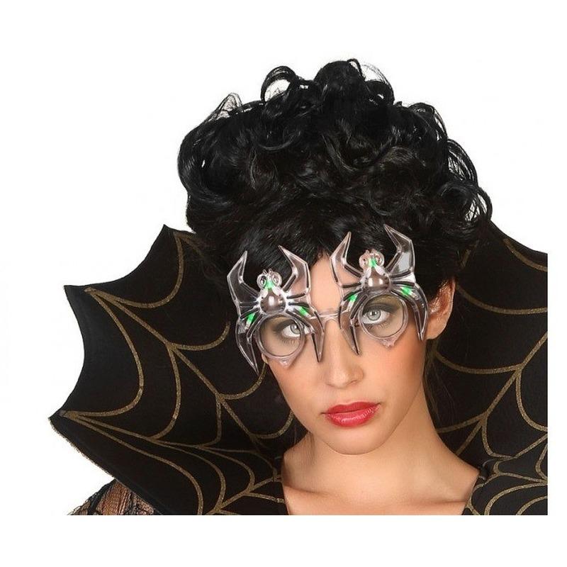 Halloween Horror spin verkleed bril met verlichting voor volwassenen