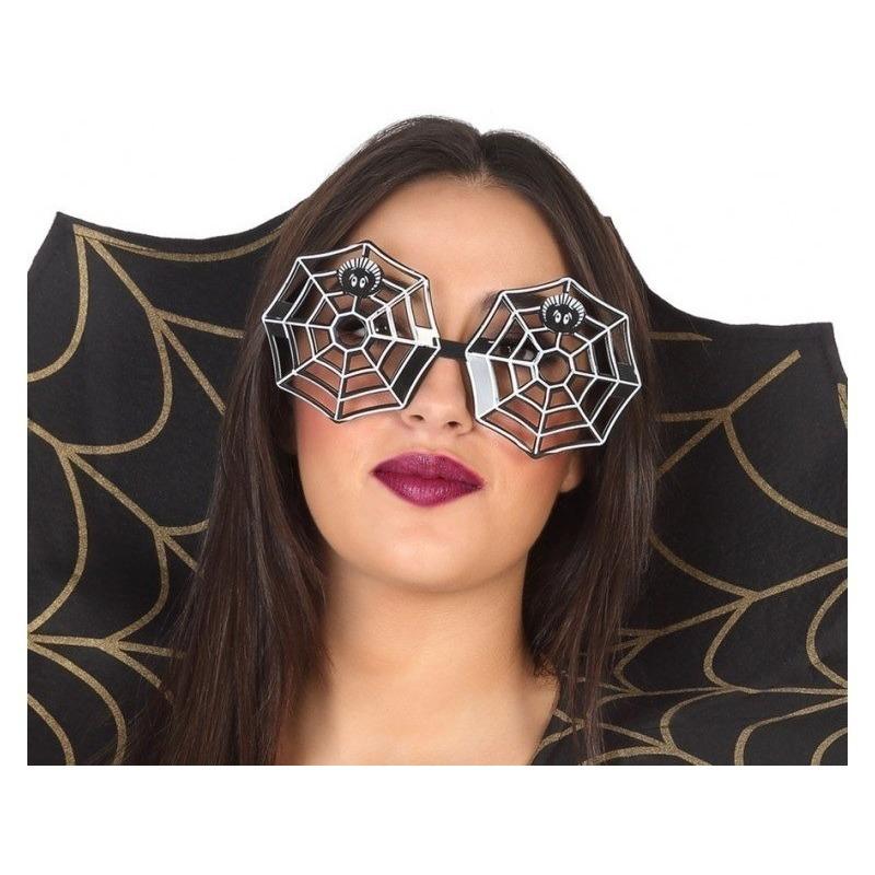 Halloween Horror spinnenweb verkleed bril voor volwassenen