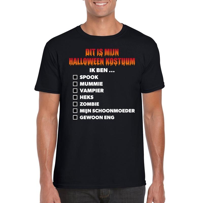 Halloween kostuum lijstje t-shirt zwart heren