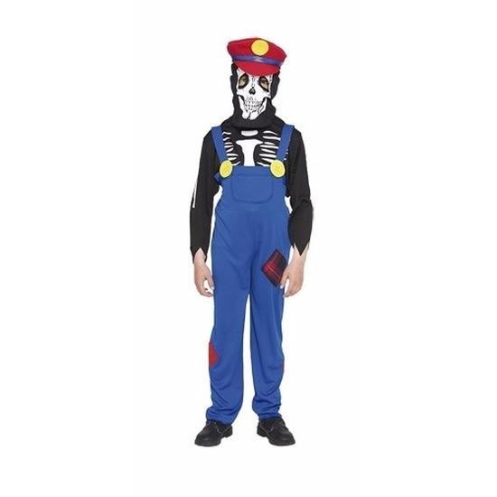 Halloween Loodgieter halloween skelet kostuum voor kinderen