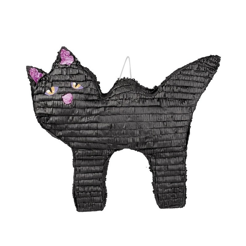 Halloween pinata zwarte kat-poes 58 cm