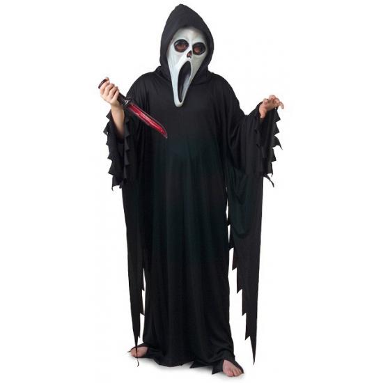 Halloween Zwart Scream verkleed kostuum-gewaad voor kinderen