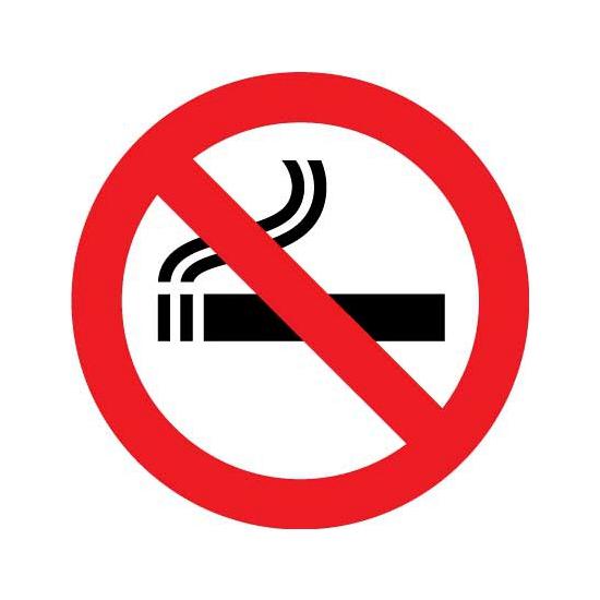 Hier niet roken sticker 15 cm