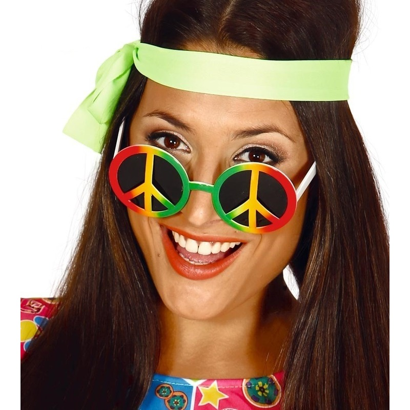 Hippie-flower power peace verkleed bril