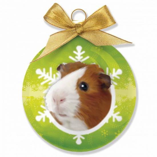 Huisdieren kerstballen cavia