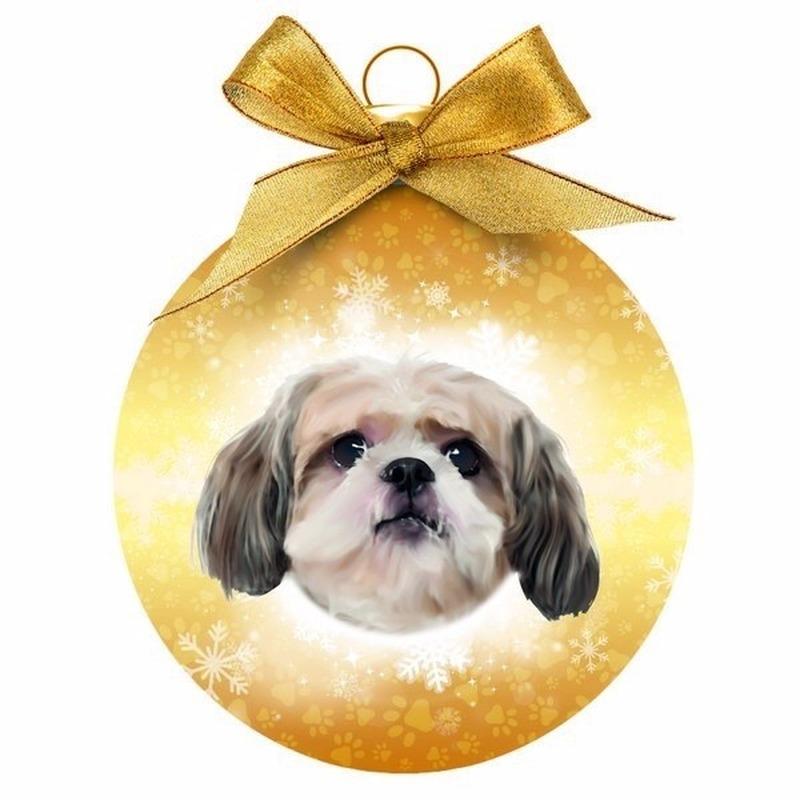 Huisdieren kerstballen honden Shih Tzu