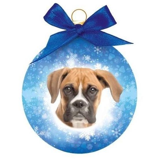 Huisdieren kerstballen hondjes Boxer