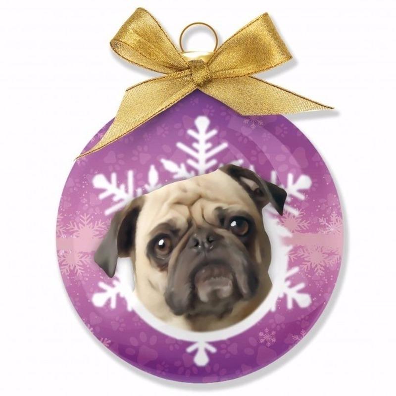 Huisdieren kerstballen hondjes Mops