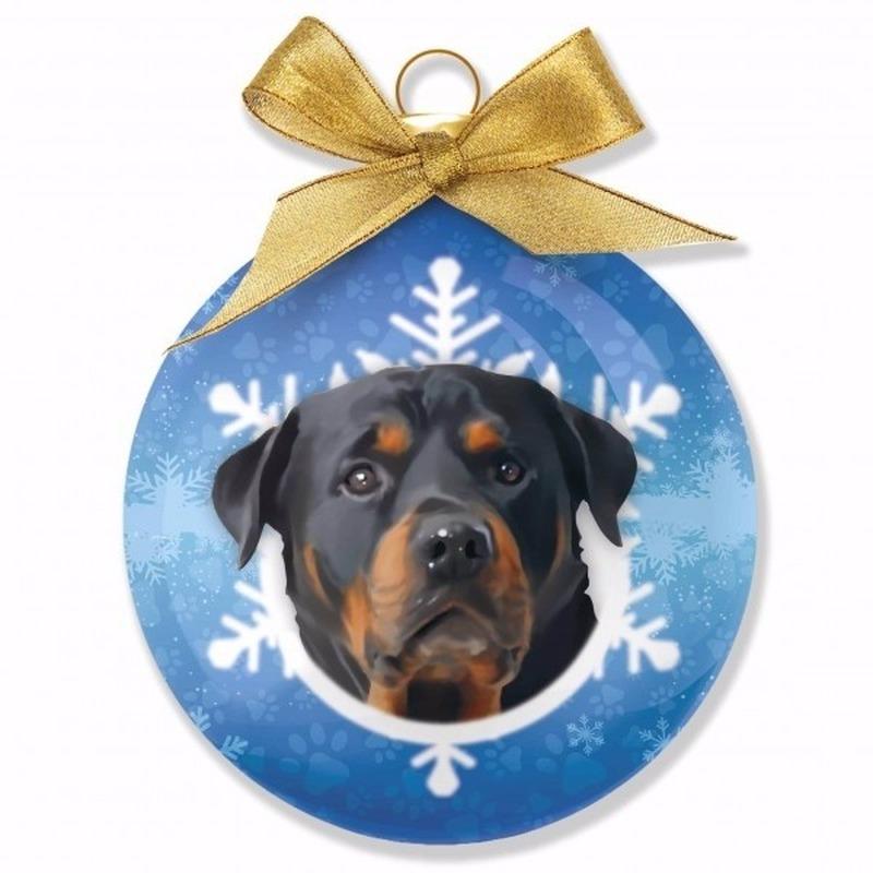 Huisdieren kerstballen hondjes Rottweiler