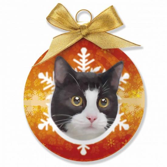 Huisdieren kerstballen kat zwart wit