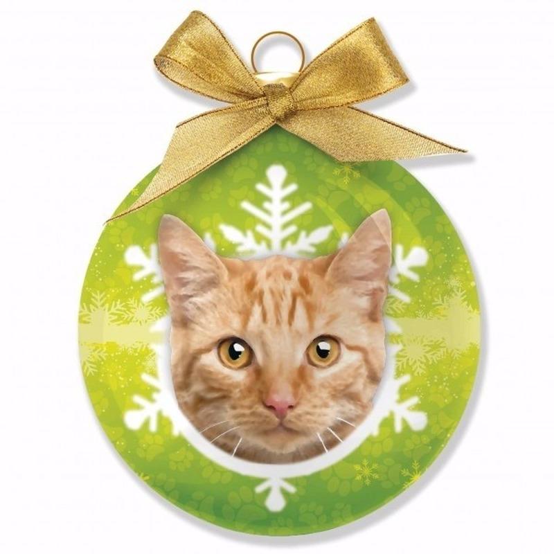 Huisdieren kerstballen katje rode Tabby