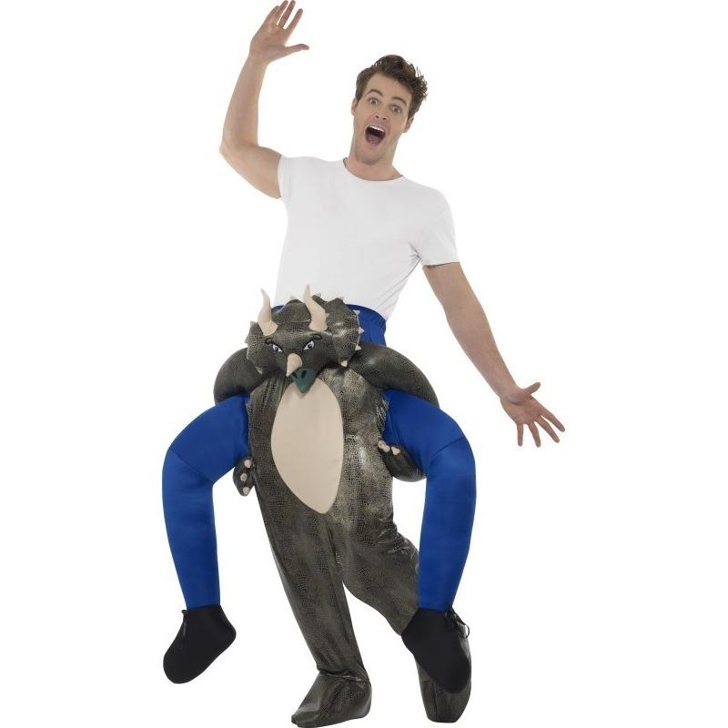 Instap dierenpak kostuum dinosaurus voor volwassenen