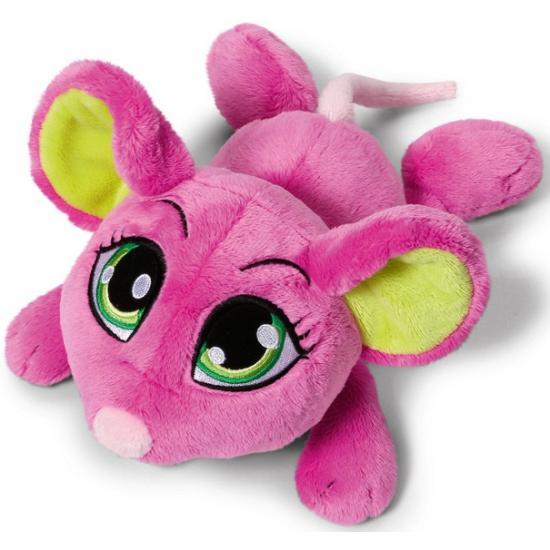Kado knuffel muizen roze 25 cm