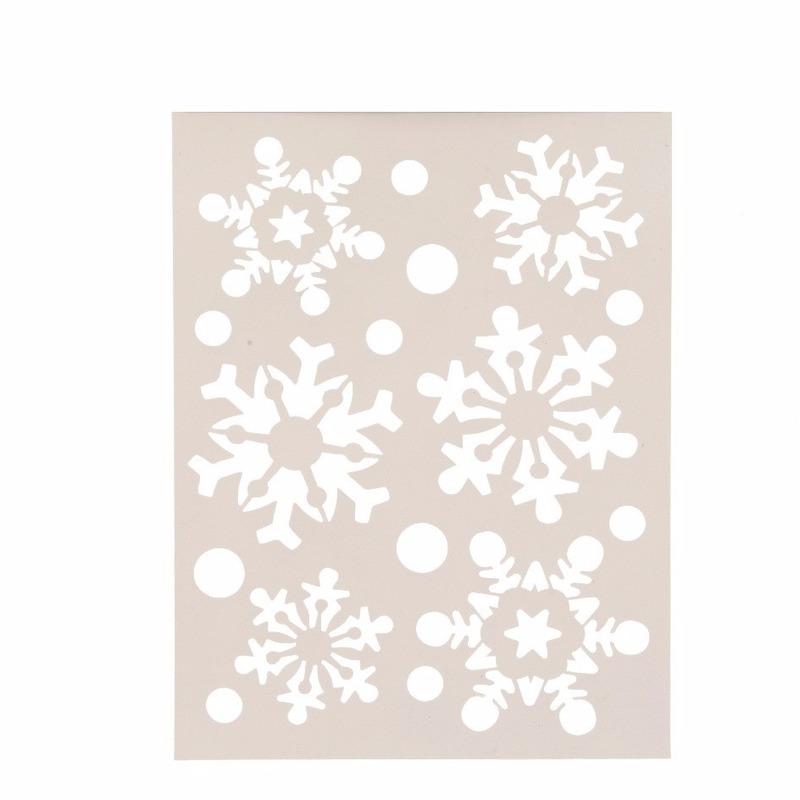 Kerst raamsjablonen-raamdecoratie sneeuwvlokken plaatjes 30 cm