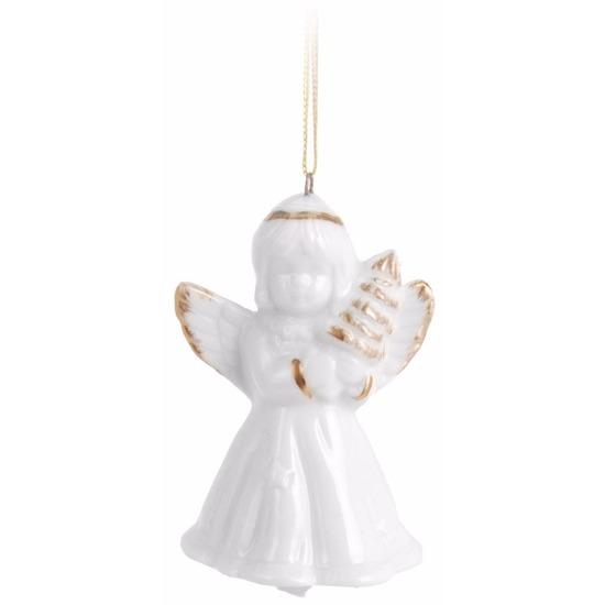 Kerstboom decoratie engel hanger 6 cm type 2