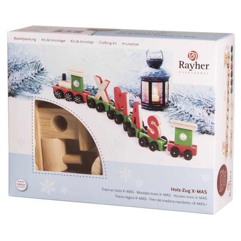 Kerstdecoratie trein knutselen