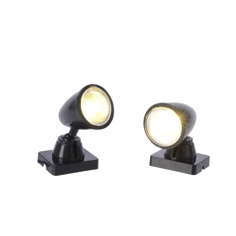 Kerstdorp accessoires LED spot lampen 2 stuks
