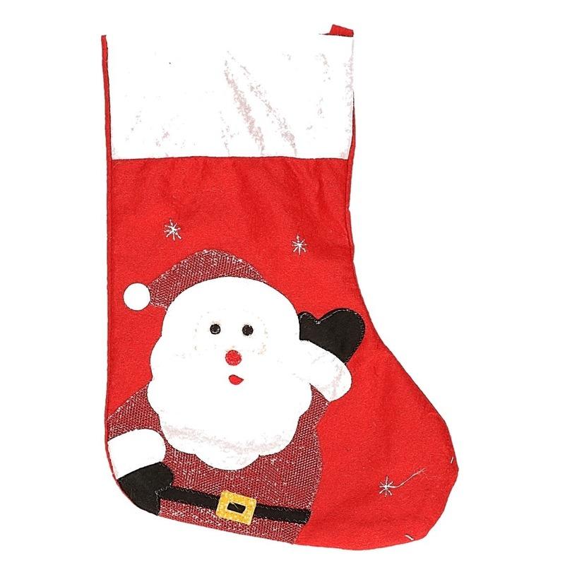 Kerstsok Kerstman rood 45 cm decoratie-versiering