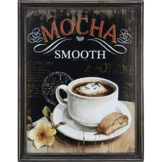 Koffie vintage schilderij van hout