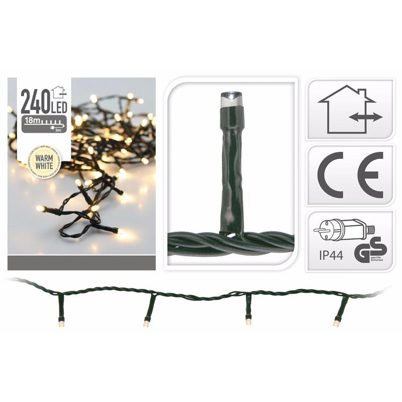 LED lichtsnoer van 21 meter wit 240 lampjes