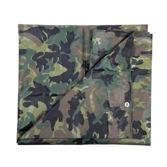 Leger thema feest camouflage afdekzeil groen 2.85 x 4 meter