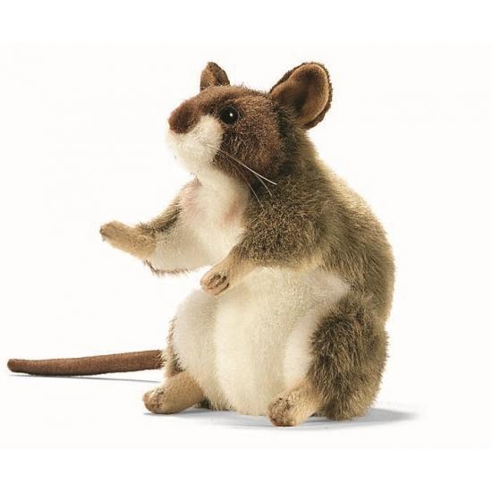 Levensechte Hansa pluche muis knuffel 15 cm