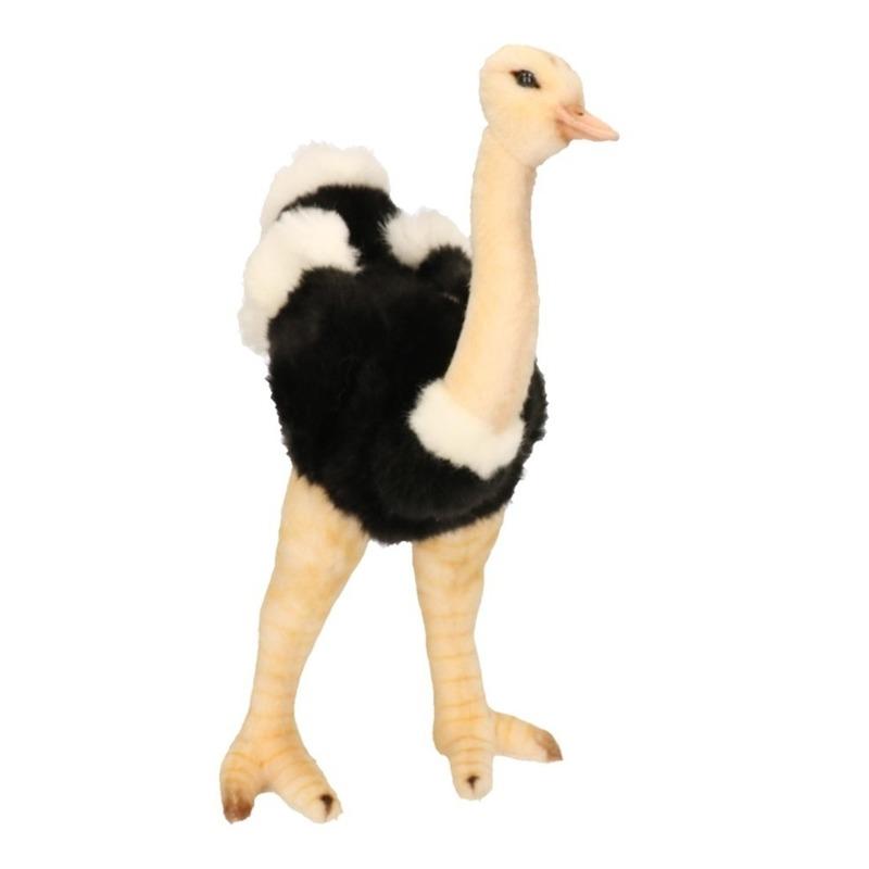 Levensechte Hansa pluche struisvogel knuffel 32 cm