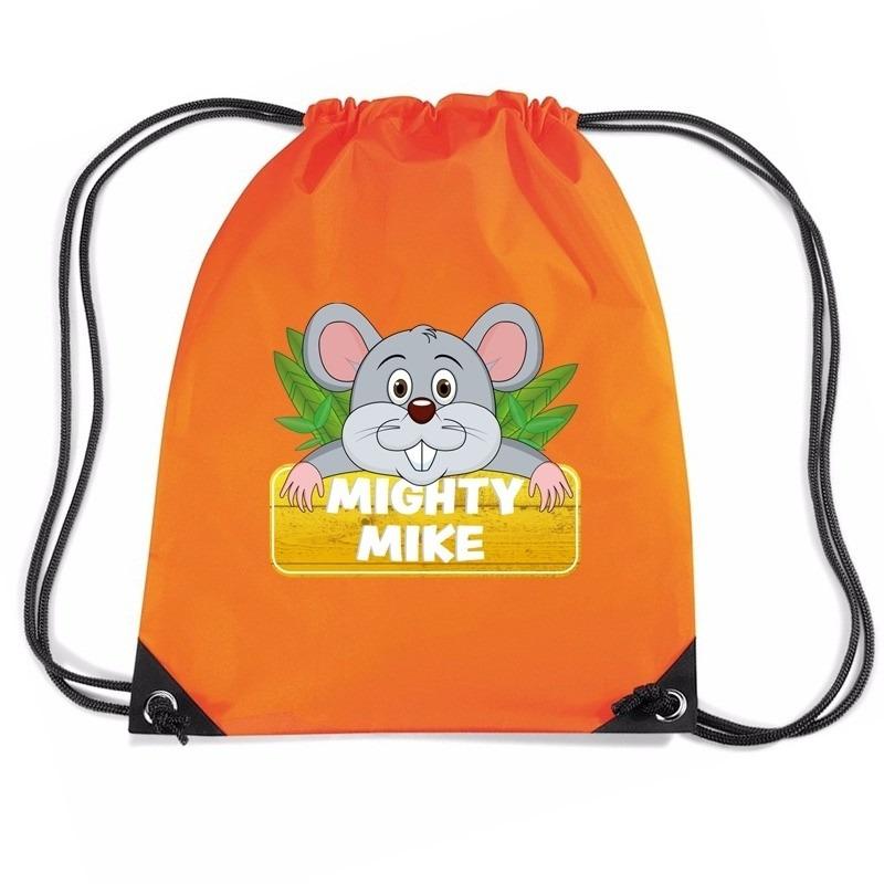 Mighty Mike de muis rugtas-gymtas oranje voor kinderen