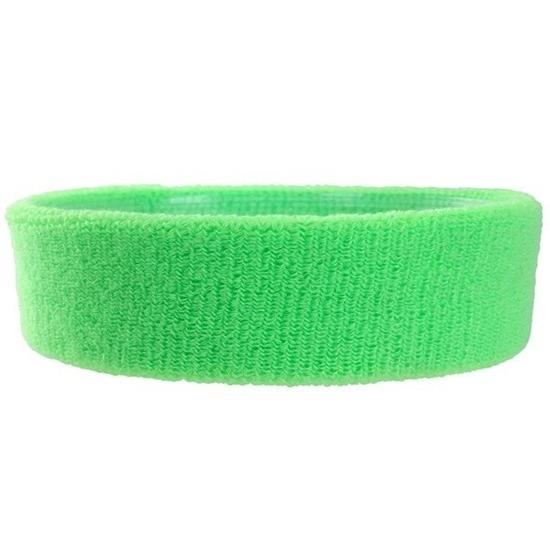 Neon groene hoofd zweetband voor volwassenen