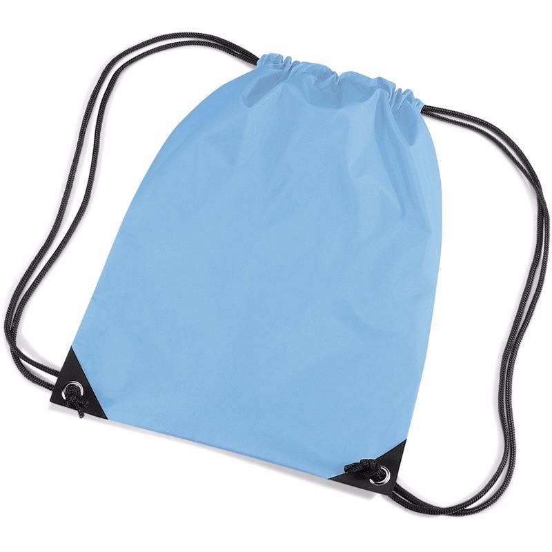 25298fad54f Lichtblauwe nylon touwtjes rugzak / rugtas bestellen | Handpoppen winkel