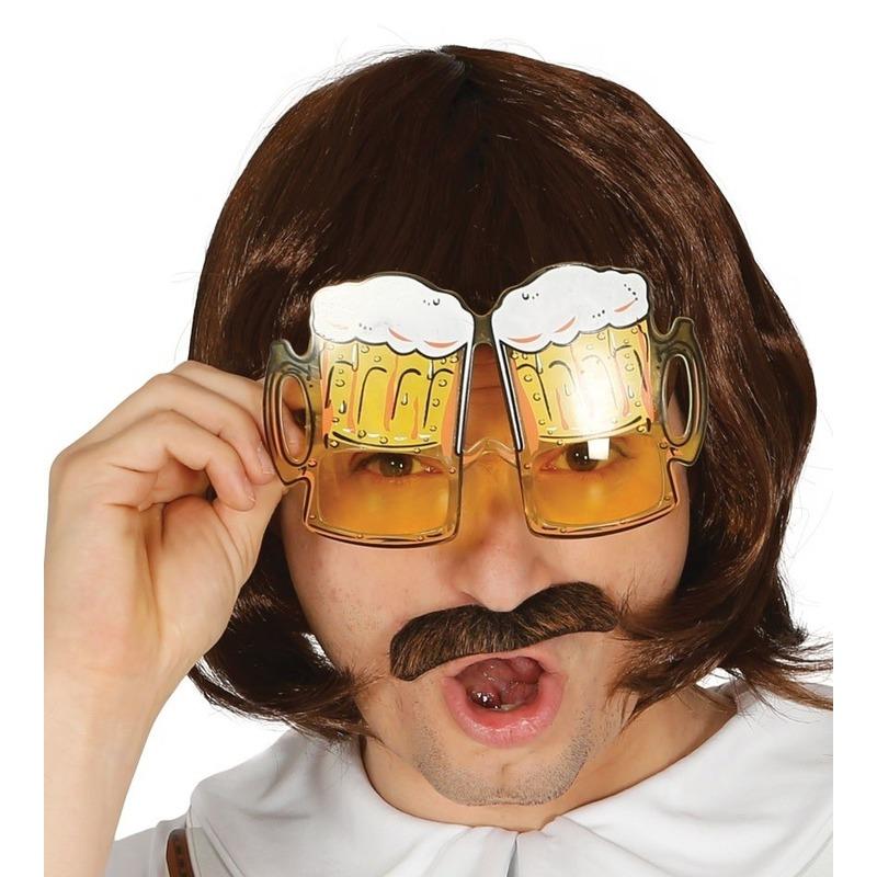 Oktoberfest Bier pullen verkleed bril voor volwassenen
