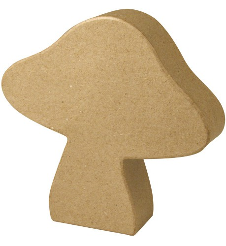 Onbedrukte vliegenzwam papier mache