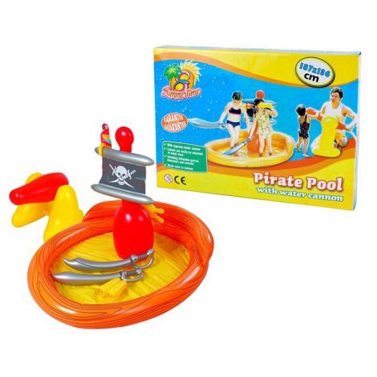 Opblaasbaar piraten bad met accessoires