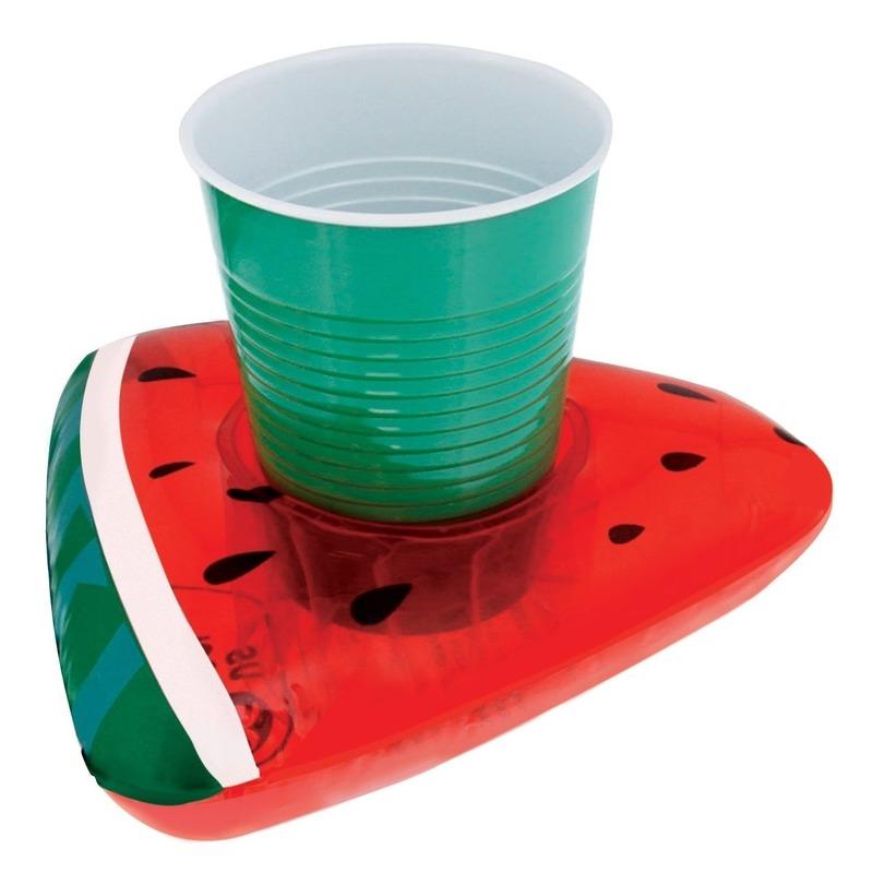 Opblaasbare drankhouder watermeloen 19 cm
