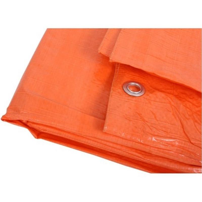 Oranje afdekzeil-dekzeil 3 x 5 meter