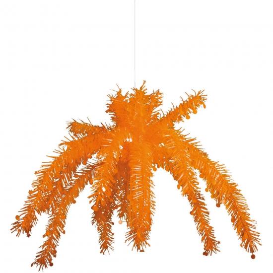 Oranje palmboom versiering