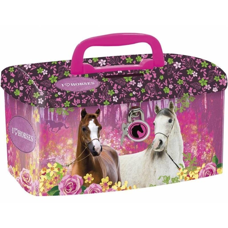 Paarden spaarpot-geldkistje